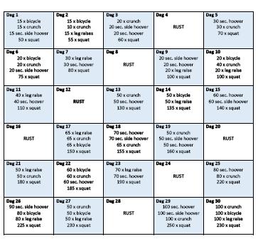fitness afvallen schema