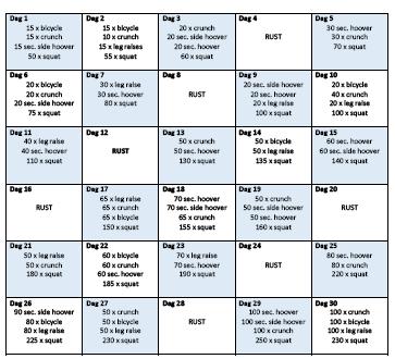 workout schema afvallen thuis